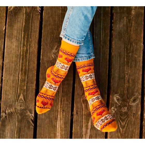 Barevné ponožky WARM FOX lišky 35-38 megamix.shop