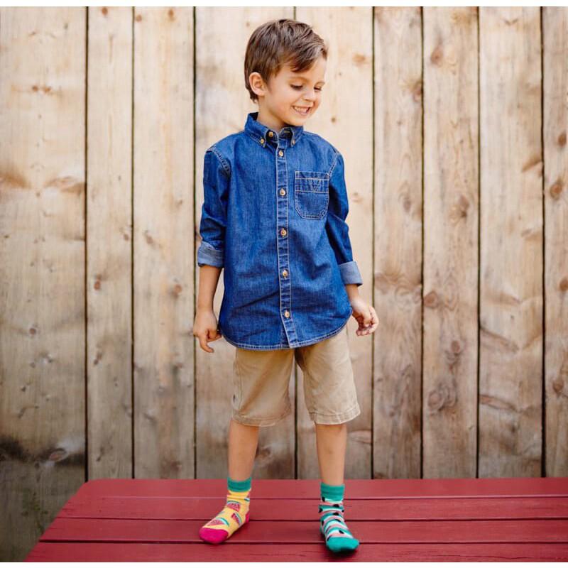 Barevné ponožky WATERMELON SPLASH meloun jadérka 27-30 megamix.shop