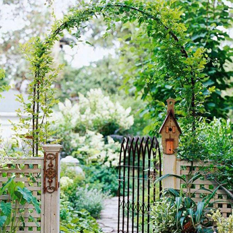 zahradní pergola na květiny kovová 240cm skládací odolná megamix.shop