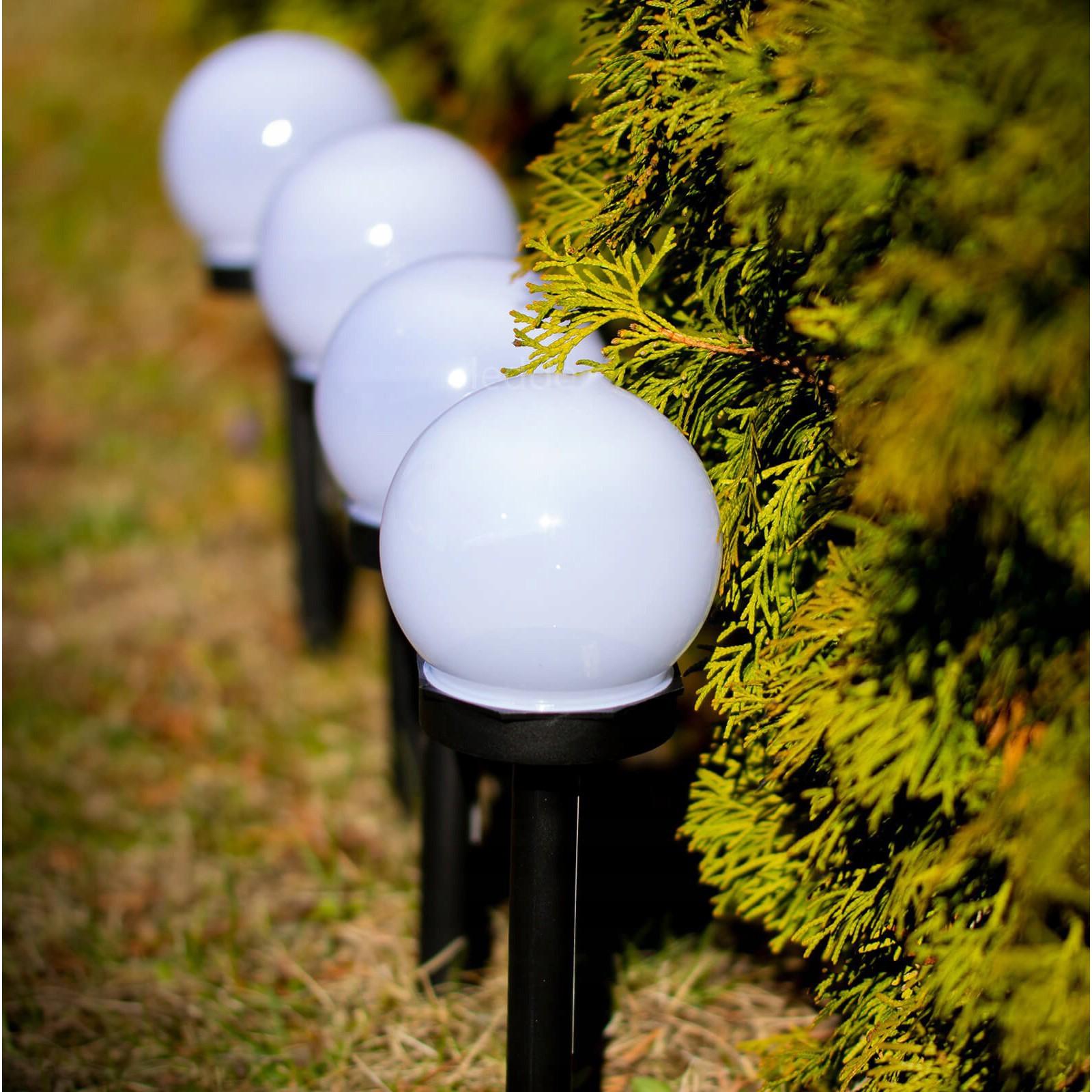 zahradní solární lampy LED 6ks koule 6000K megamix.shop