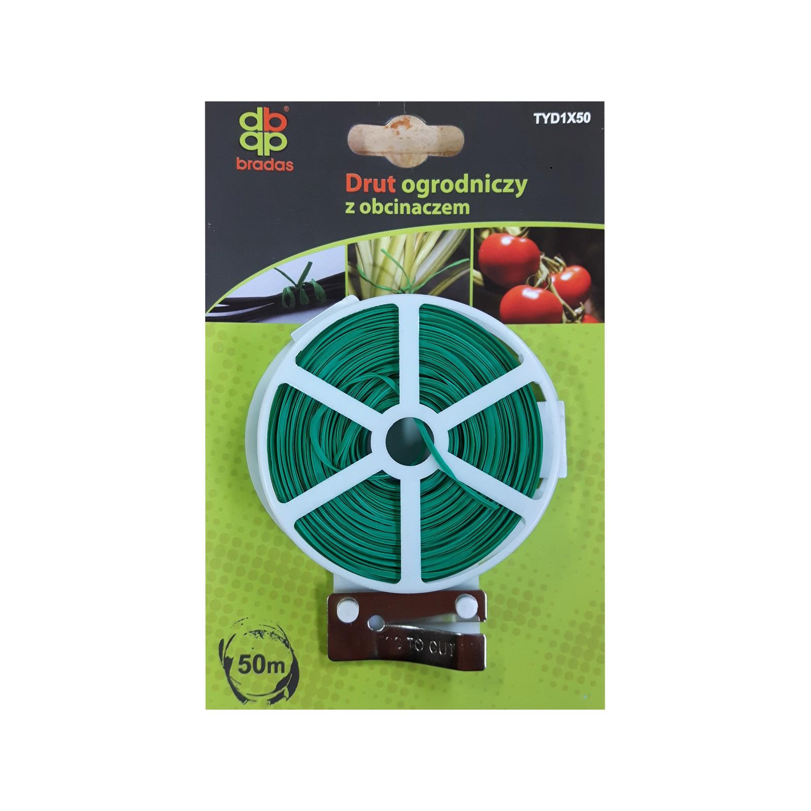 Zahradní drát zelený 50m a nožík na řezání drátu megamix.shop