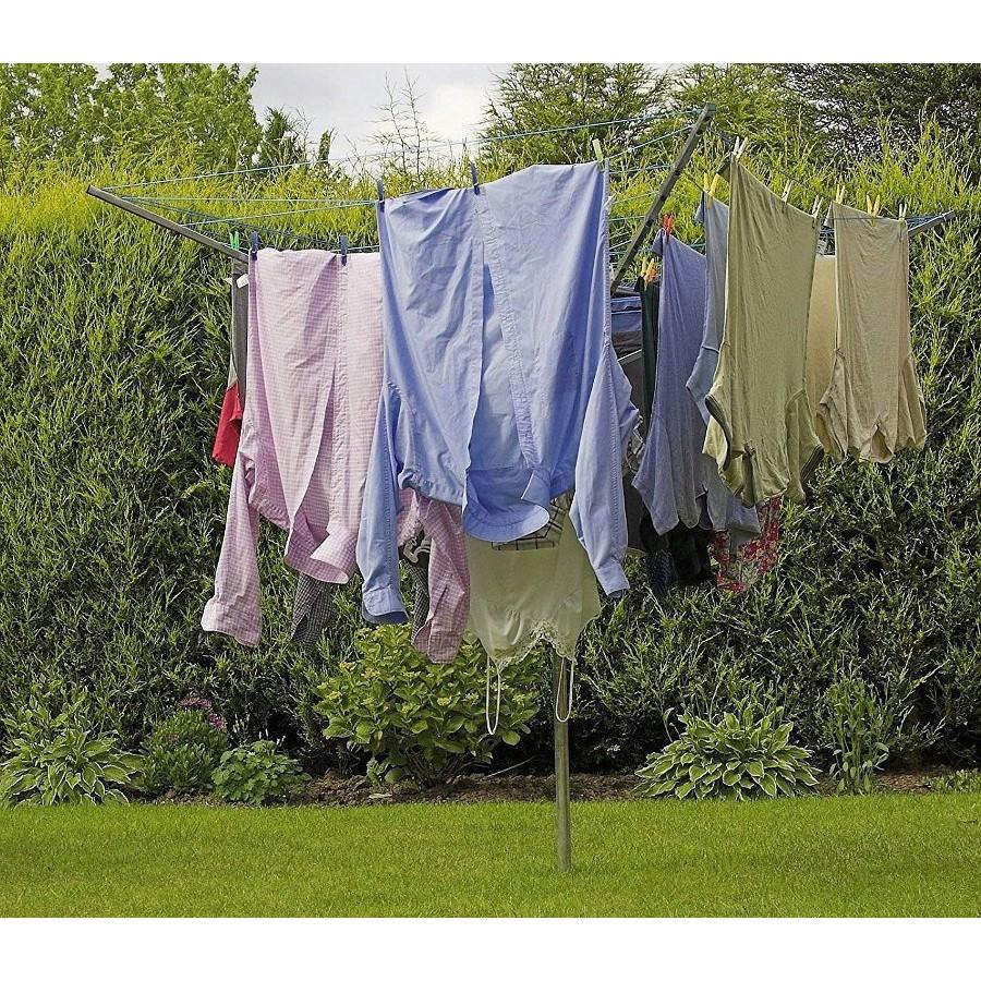 Zahradní sušák na prádlo rotační skládací 4-ramena vnější na prádlo megamix.shop